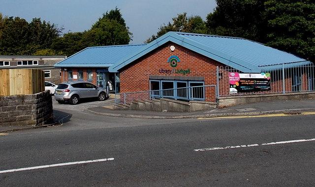 Entrance to Killay Library, Swansea