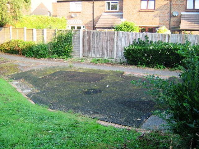 Remains of play area