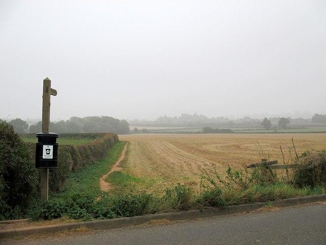 Tollerton: footpath to Plumtree