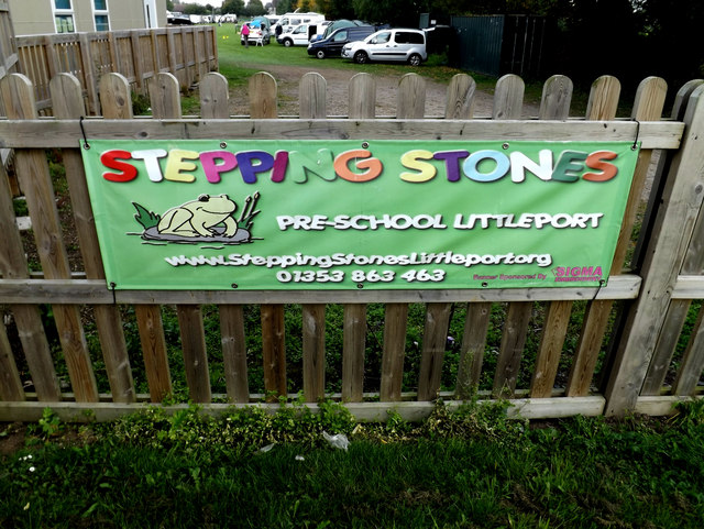 Stepping Stones Pre School sign