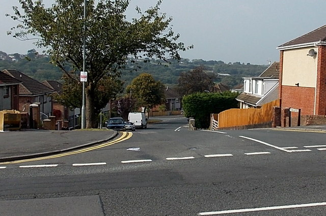 Junction of Goetre Fawr Road and Broadmead, Killay, Swansea