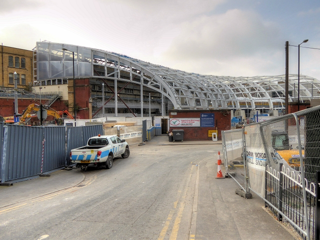 Manchester Victoria Redevelopment - View from Long Millgate Sept 2014