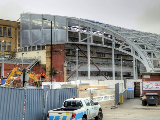 New Roof Construction at Victoria Station - September 2014