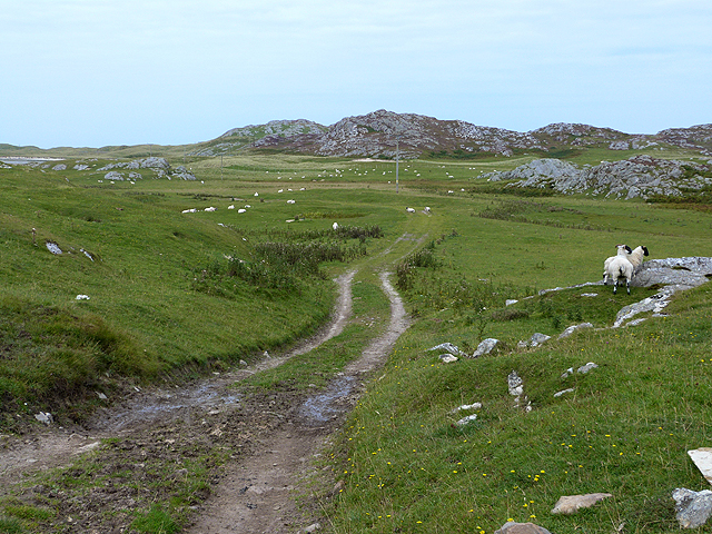 Track to the Tràigh nam Bàrc