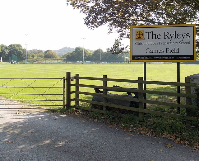 Entrance to The Ryleys Games Field, Alderley Edge