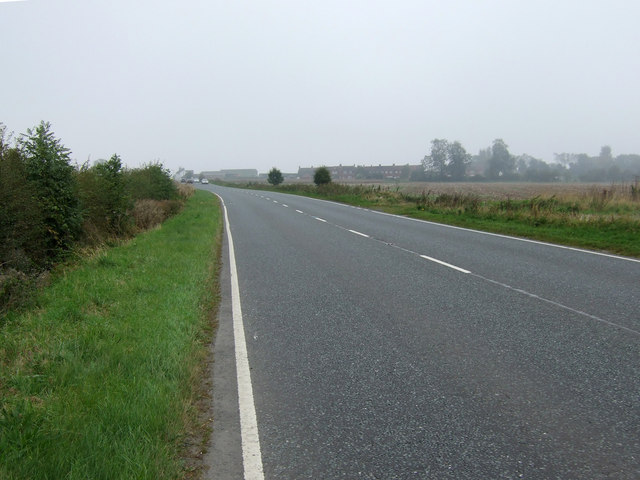 A614 heading north east