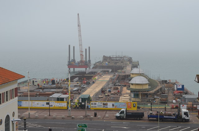 Hastings Pier in the mist (September 2014)
