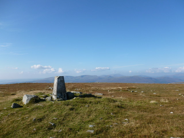 Trig point on Cairnsmore of Fleet