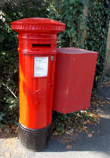 Victorian postbox in Brook Lane, Alderley Edge