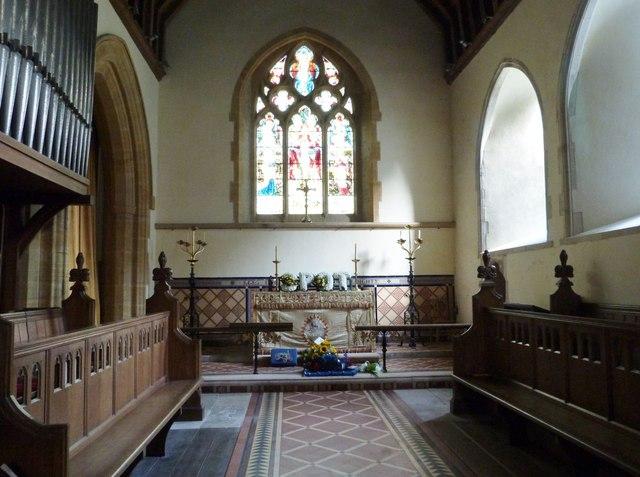 The Chancel, St Peter's church, West Firle