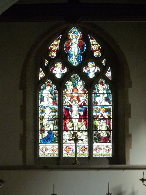 The East window, St Peter's church, West Firle