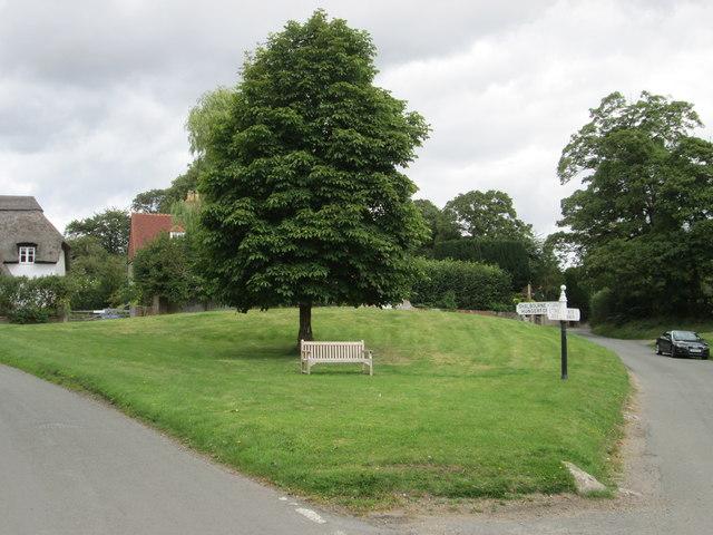 Village green, Ham in Wiltshire