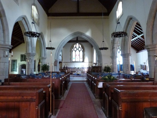 Interior of St Peter's church, West Firle