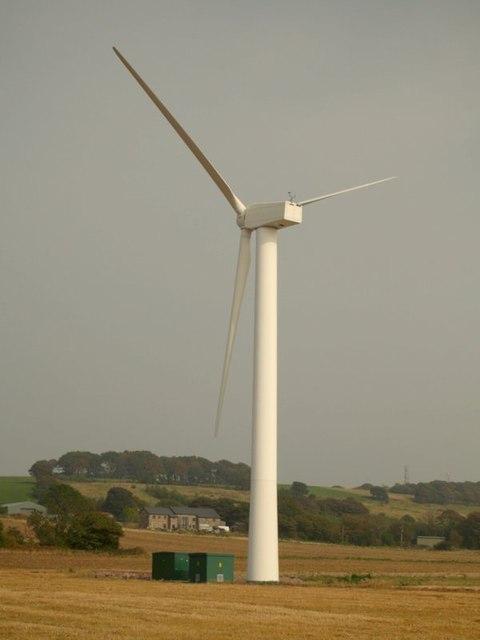 Wind turbine near Promised Land Farm, Billinge.