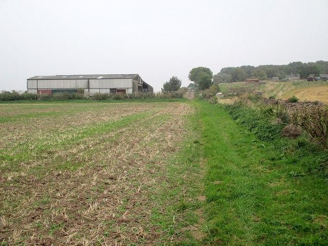 Nearing Hoyland's Farm