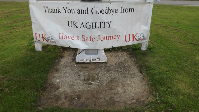 UK Agility sign at Littleport Sports And Leisure Centre entrance
