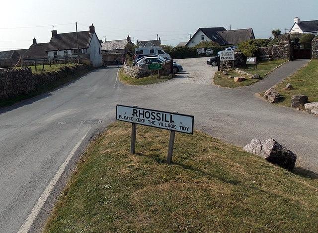 Please keep the village tidy, Rhossili