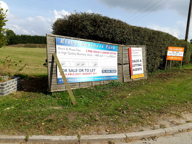 Risby Business Park signs