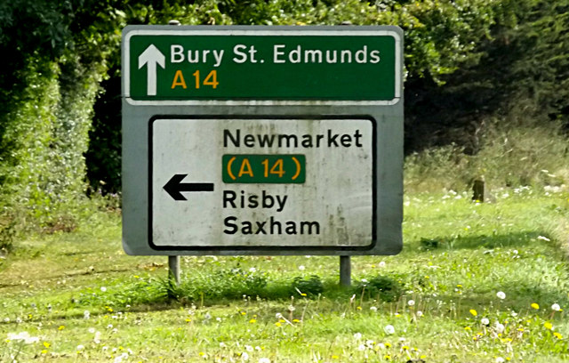 Roadsigns on Newmarket Road