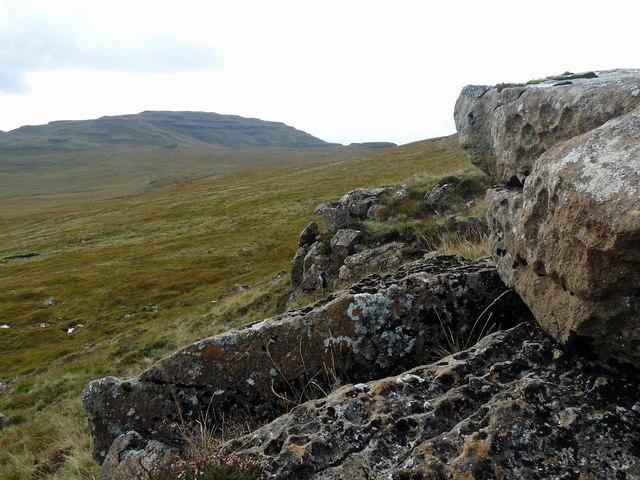 Rocks below Fionna Mhàm, Ardmeanach, Isle of Mull