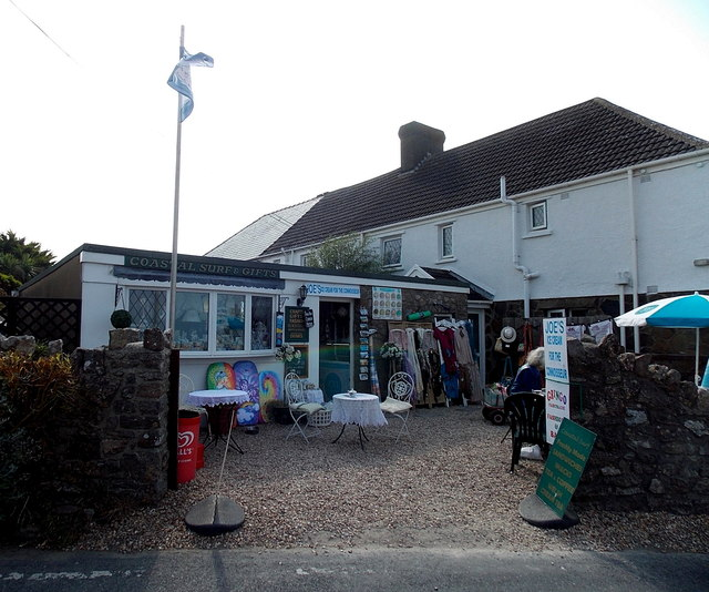 Coastal Surf & Gifts shop in Rhossili