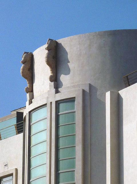 Sea horses on the Midland Hotel, Morecambe (2)