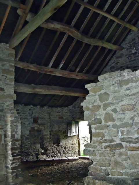 Stone barn interior