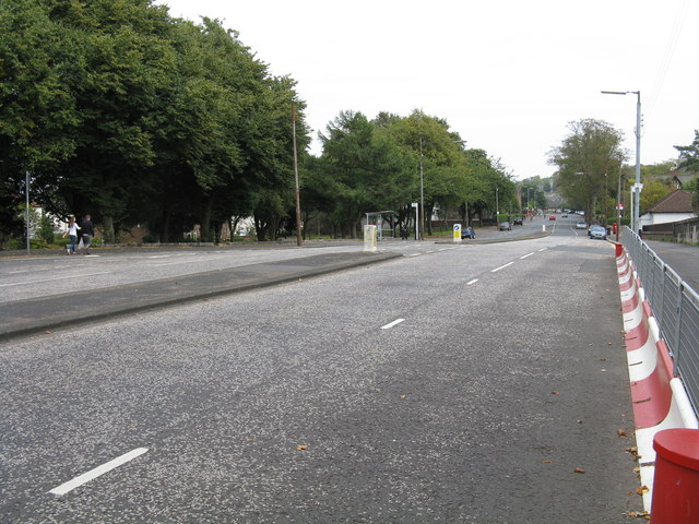 Scotstounhill - Kingsway, looking east