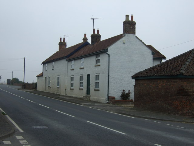 Cottages on Main Road (A614), Haisthorpe