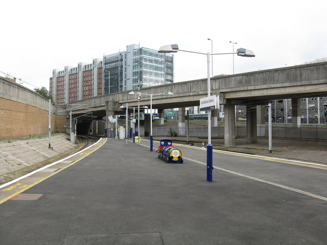 Looking southeast from Exhibition Centre station