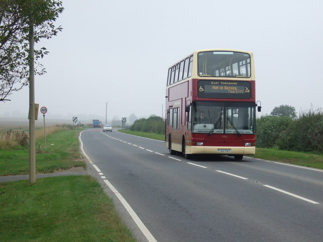 Main Road (A614),  heading north east out of Haisthorpe
