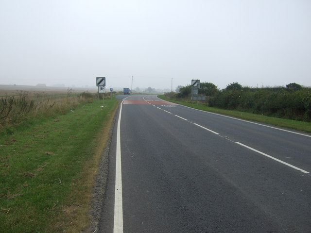 A614 heading north east out of Haisthorpe