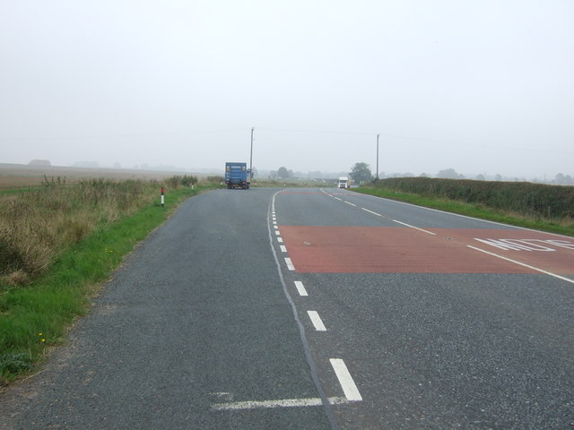 Lay-by on the A614