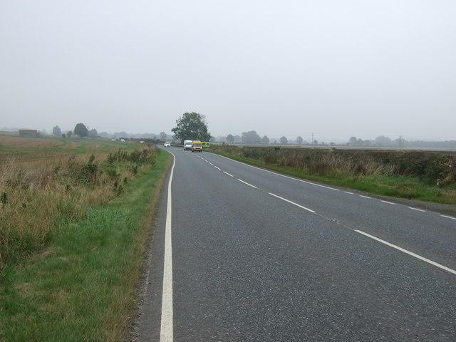 A614 heading east