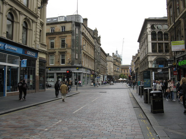 Gordon Street from Glasgow Central's main entrance