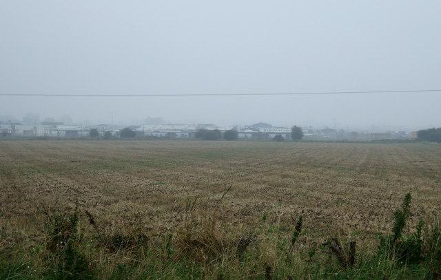 Farmland towards Carnaby Industrial Estate