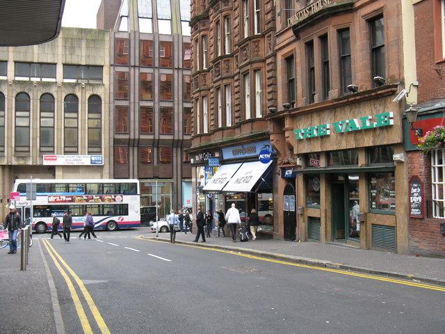 Western access road, Glasgow Queen Street station