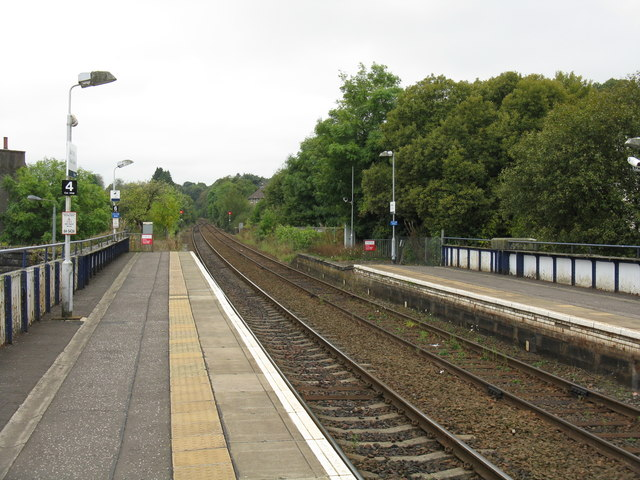 View southwest from Barrhead station