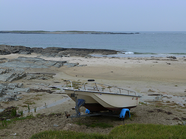 Beach and boat on the Ardnave peninsula