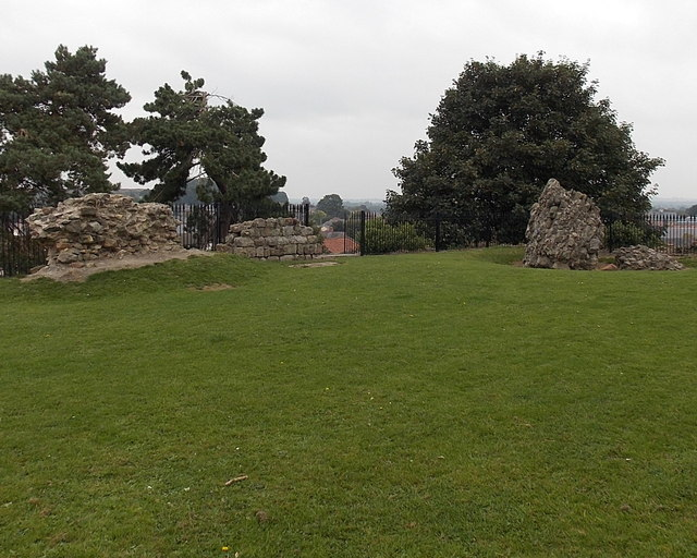 Fragmentary remains of Oswestry Castle