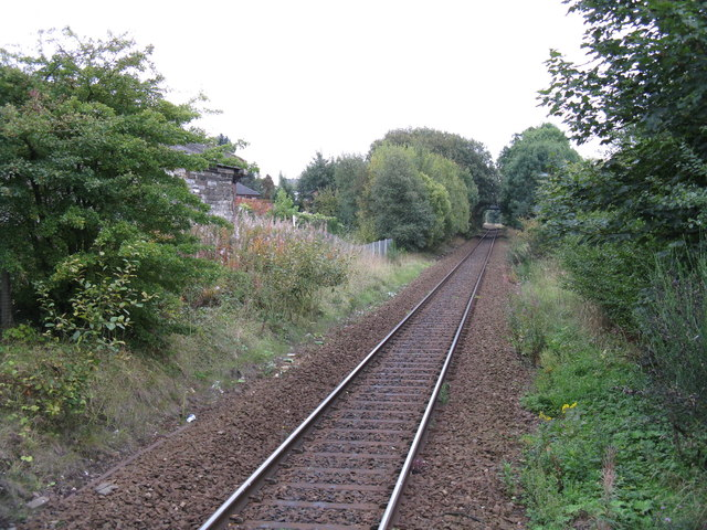 View south from Kilmaurs railway station