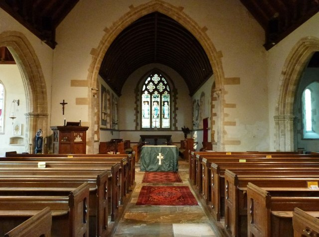 Interior of St Andrew's church, Oving, West Sussex