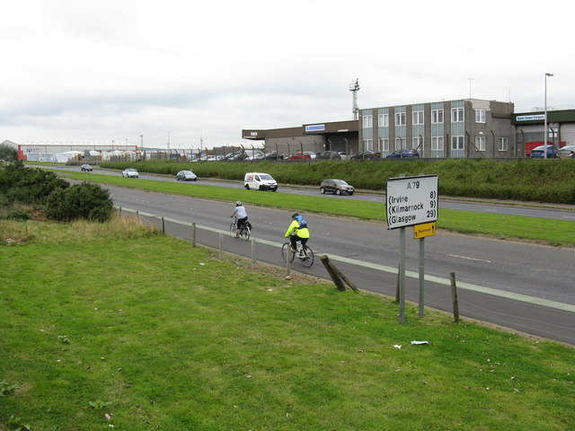 Cycling north from Prestwick Airport