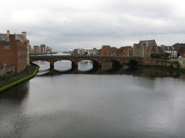 View from the Auld Bridge, Ayr