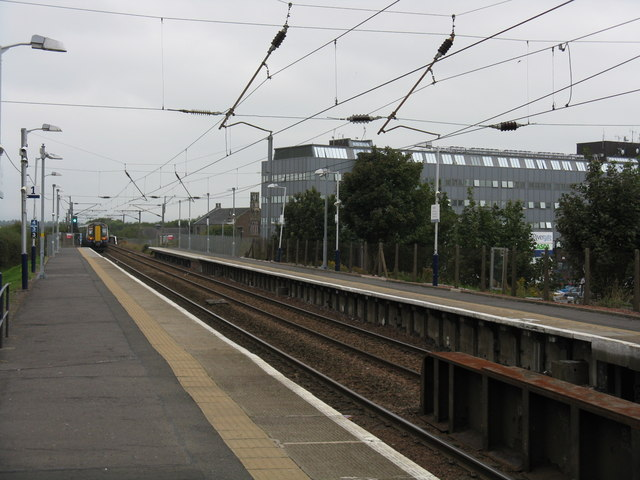Irvine station - the view north
