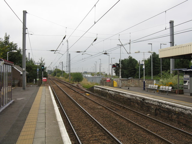 Irvine station - the view south