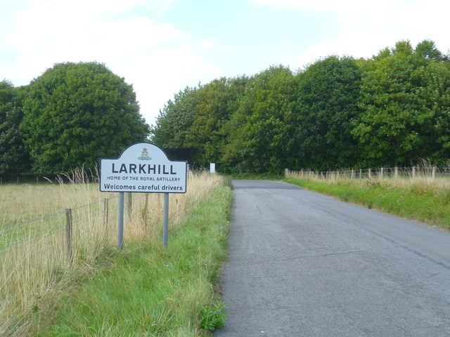 Approaching Larkhill from the east