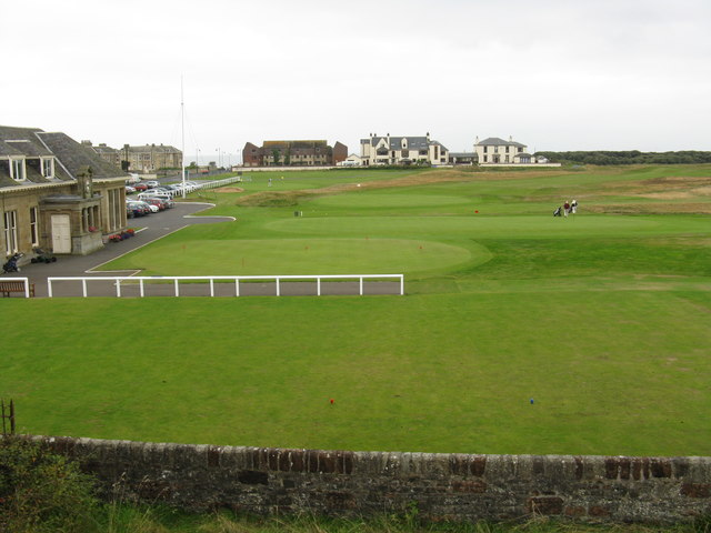 Golf links adjoining Prestwick Town station