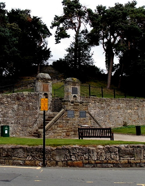 Steps into Oswestry Castle Grounds
