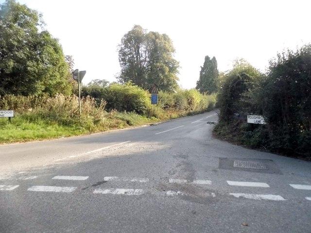 Roughwood Lane at the junction of Burtons Lane